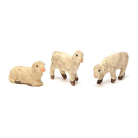Terracotta sheep for Neapolitan Nativity Scene 4 cm 3 pieces s1