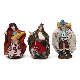 Pastori per  presepe napoletano di 4 cm in terracotta colorata 6 pz s3