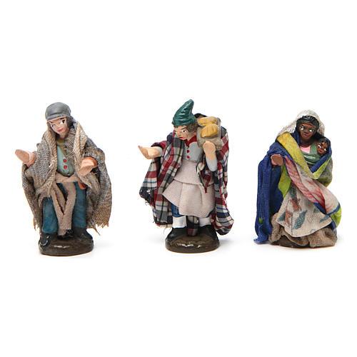Pastori per  presepe napoletano di 4 cm in terracotta colorata 6 pz 2