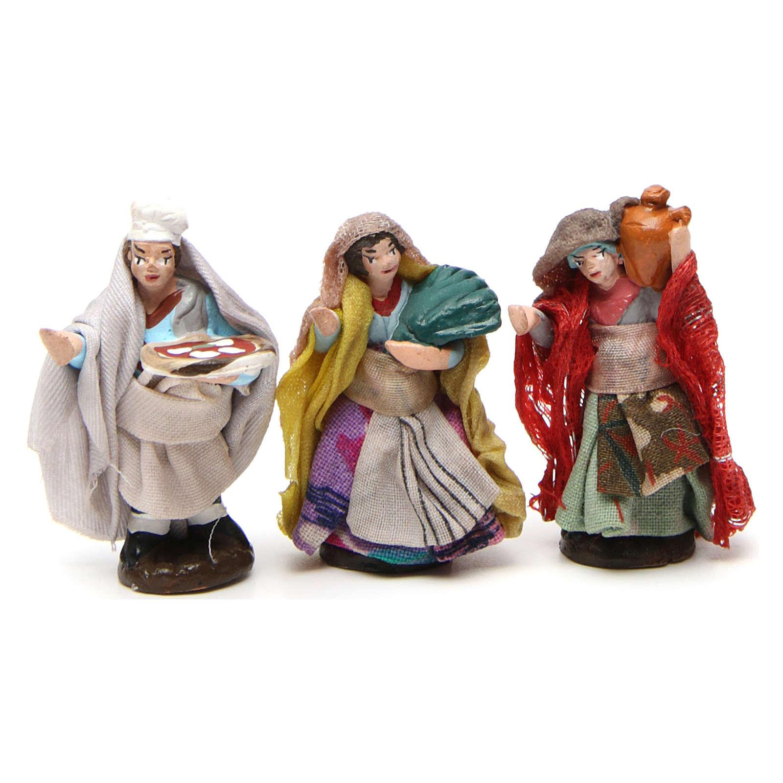 Set 6 statuine per presepe napoletano di 4 cm | vendita