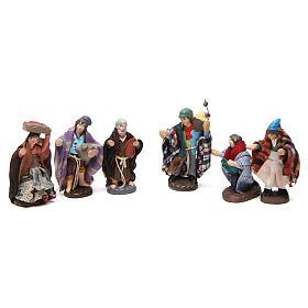 Set pastori per presepe Napoli in terracotta 4 cm 6 pz s1