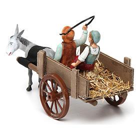 Farmers on cart 10x20x10 cm s3