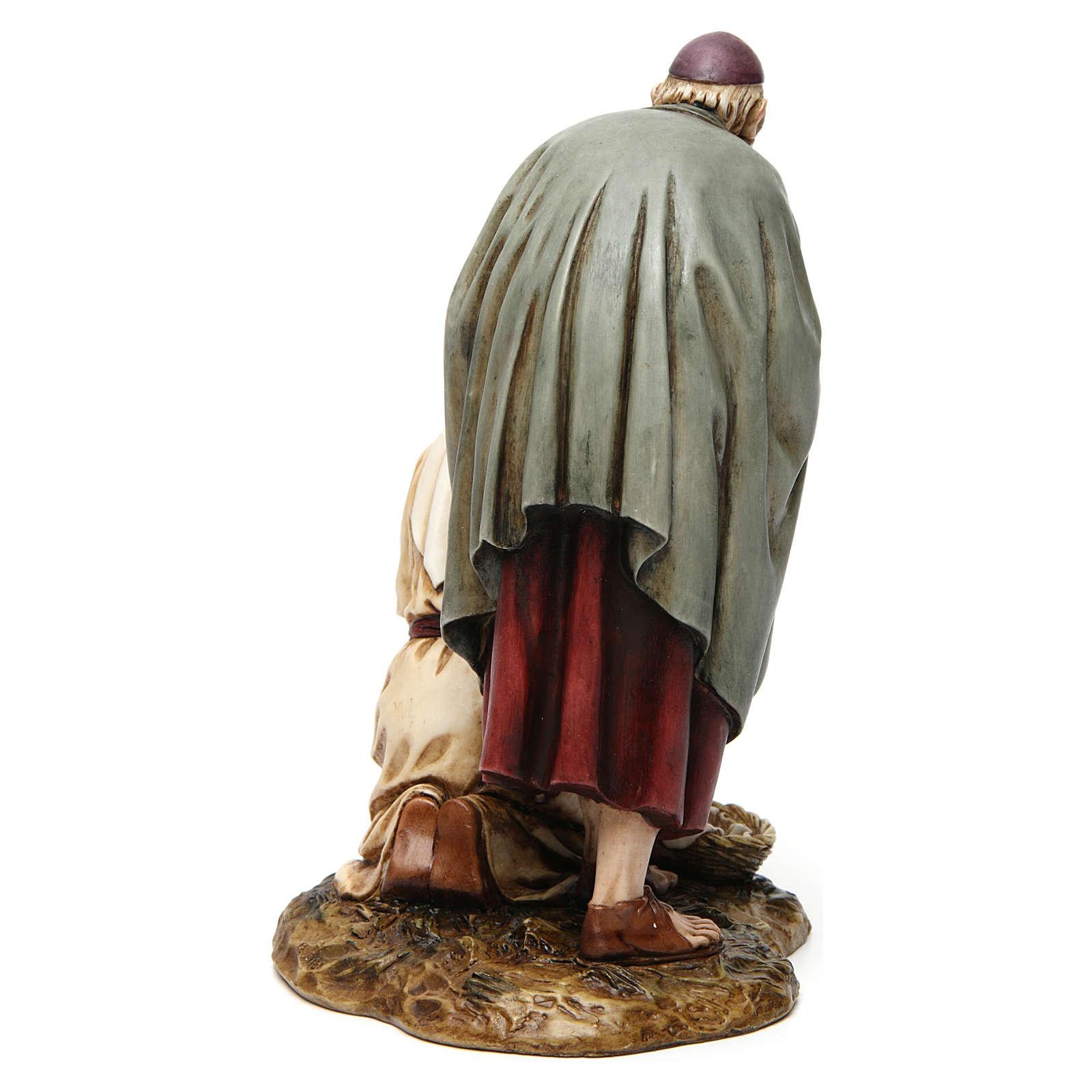 Vecchio con fanciulla 20 cm resina Moranduzzo 4