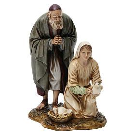 Vecchio con fanciulla 20 cm resina Moranduzzo s1