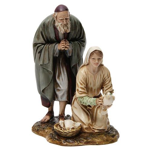 Vecchio con fanciulla 20 cm resina Moranduzzo 1