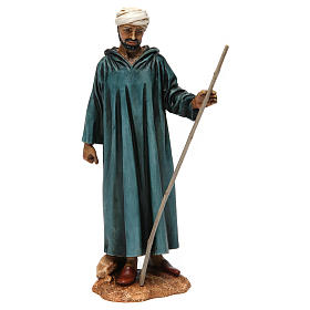 Nativity Scene by Moranduzzo: Arab-style camel rider with stick in resin Moranduzzo Nativity Scene 20 cm
