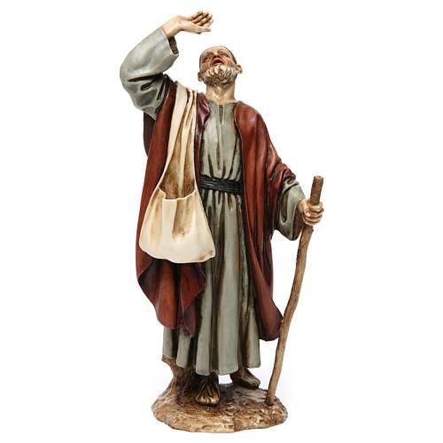 Homme émerveillé avec canne résine Moranduzzo 20 cm 1