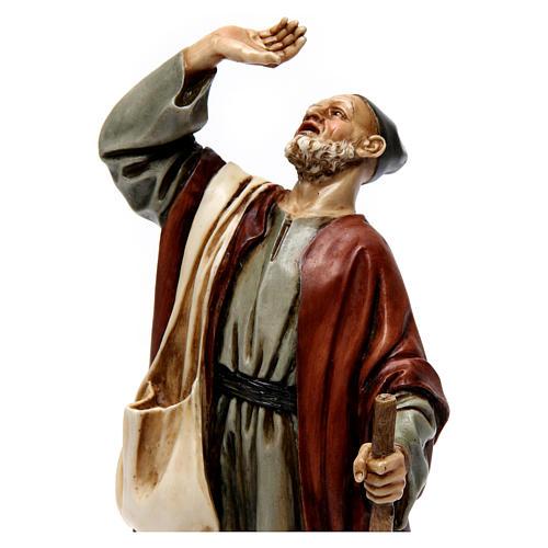 Homme émerveillé avec canne résine Moranduzzo 20 cm 2