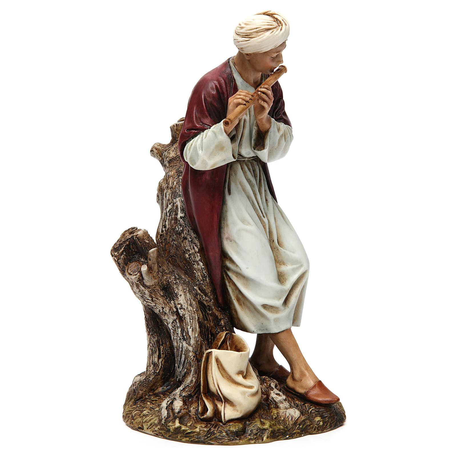 Flutist in resin Moranduzzo Nativity Scene 20 cm 4