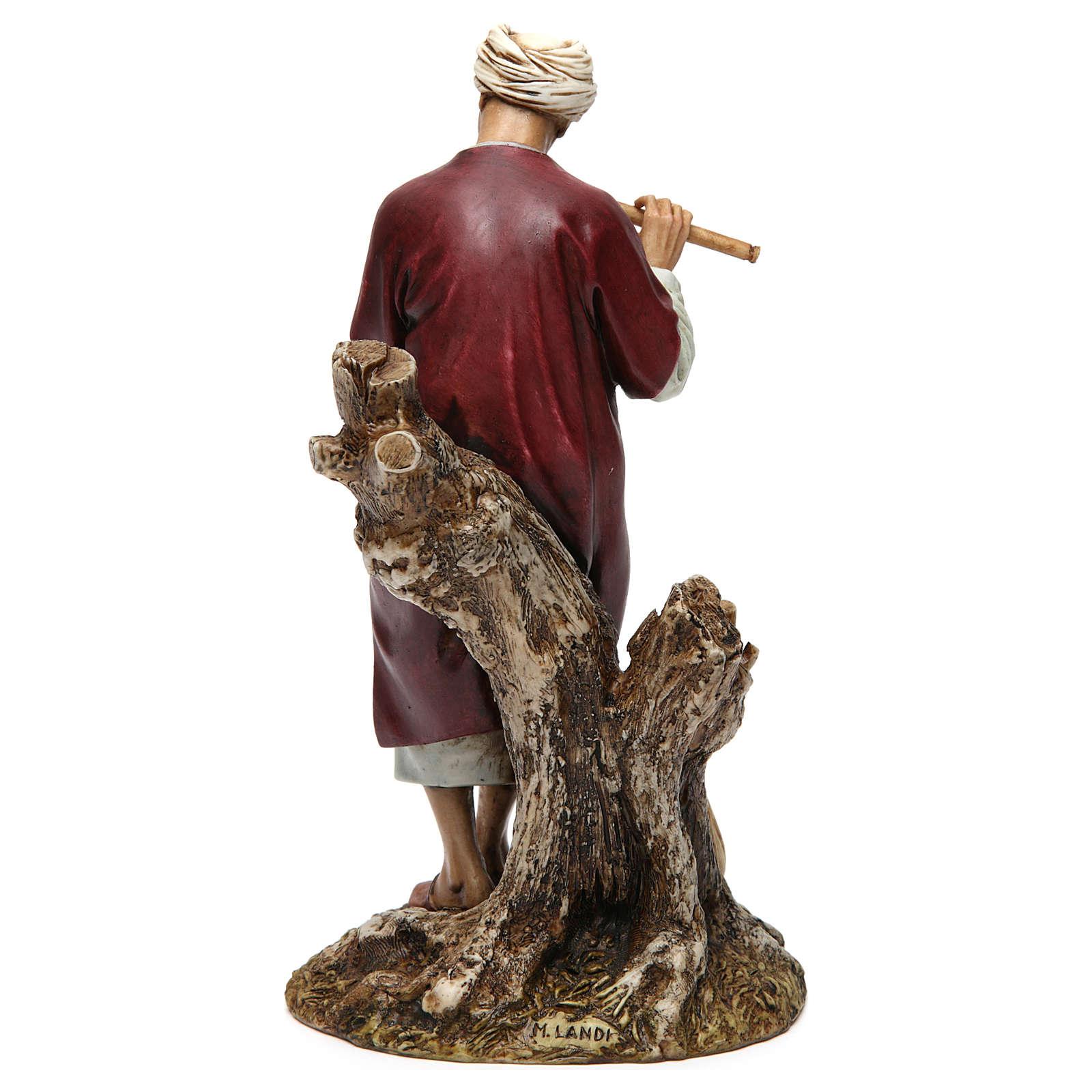 Flautista resina para belén 20 cm Moranduzzo 4