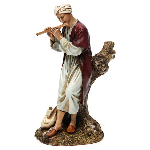 Flautista resina per presepe 20 cm Moranduzzo 3
