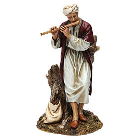 Flute player for Moranduzzo Nativity Scene 20cm s1