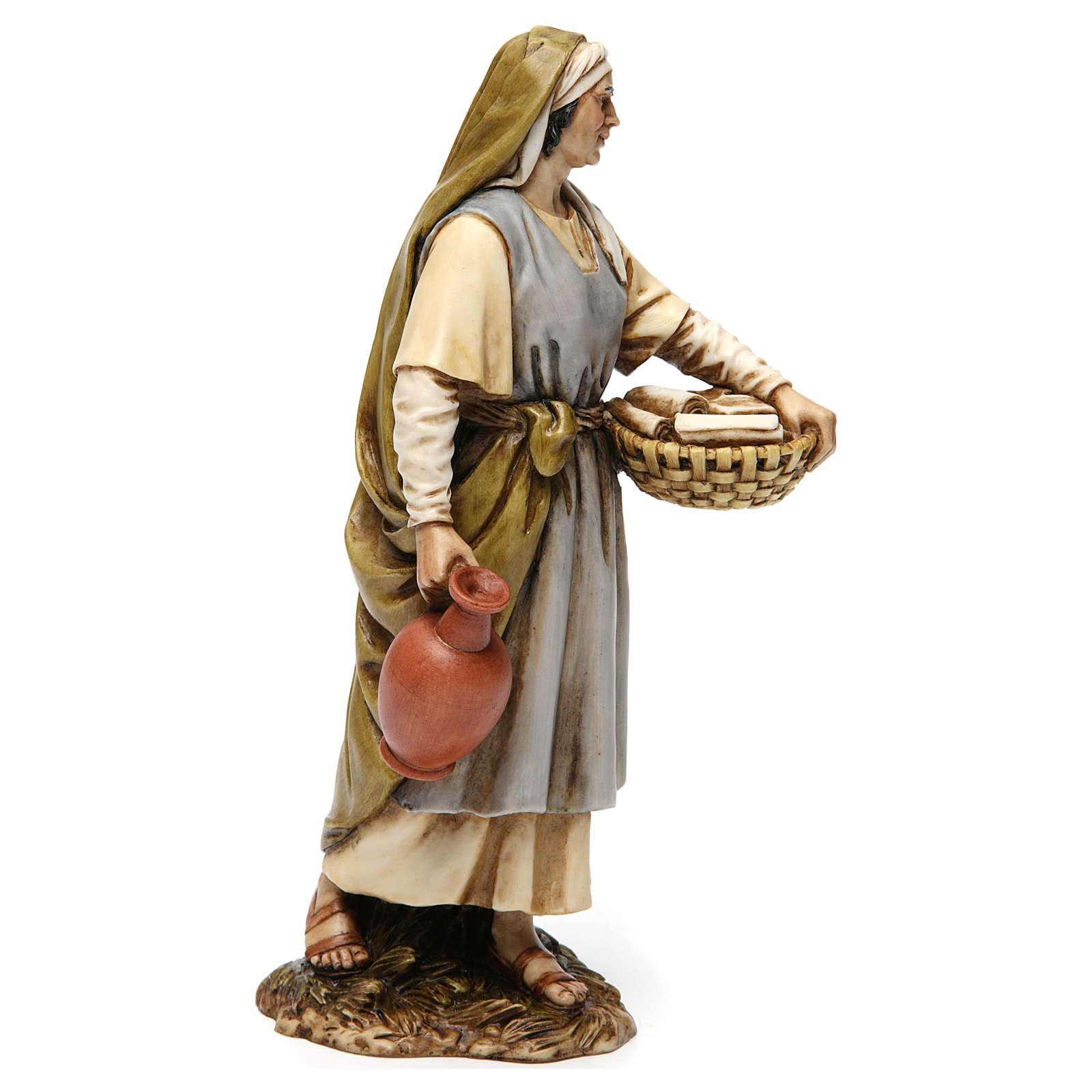 Midwife in resin Moranduzzo Nativity Scene 20 cm 4