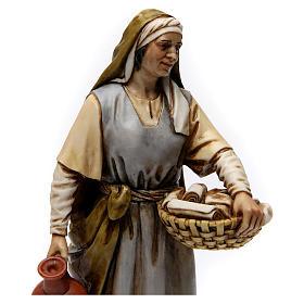Midwife in resin Moranduzzo Nativity Scene 20 cm s2