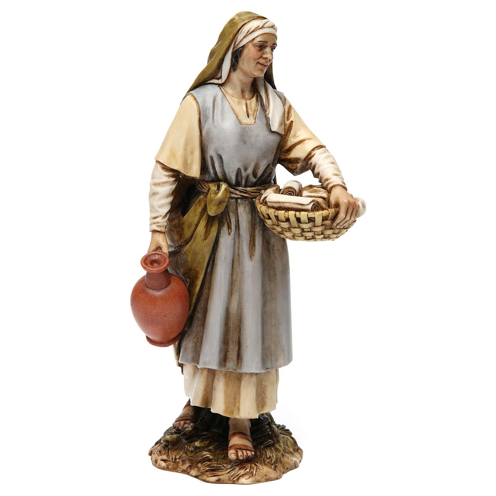 Sage-femme en résine pour crèche 20 cm Moranduzzo 4