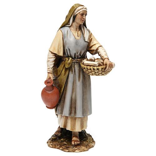 Sage-femme en résine pour crèche 20 cm Moranduzzo 1
