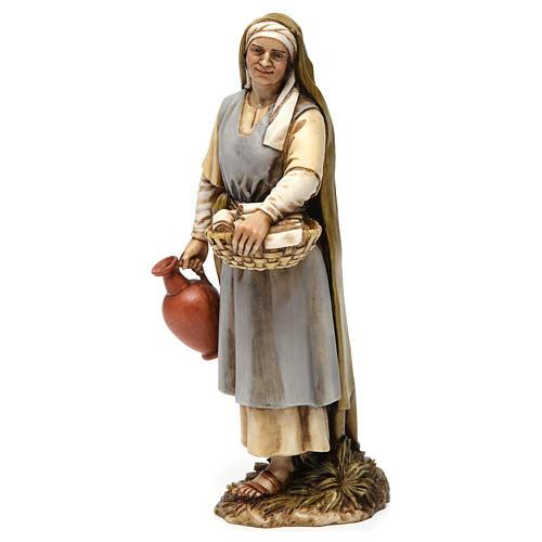 Sage-femme en résine pour crèche 20 cm Moranduzzo 3