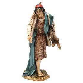 Wayfarer with sack and wood in resin Moranduzzo Nativity Scene 20 cm s1
