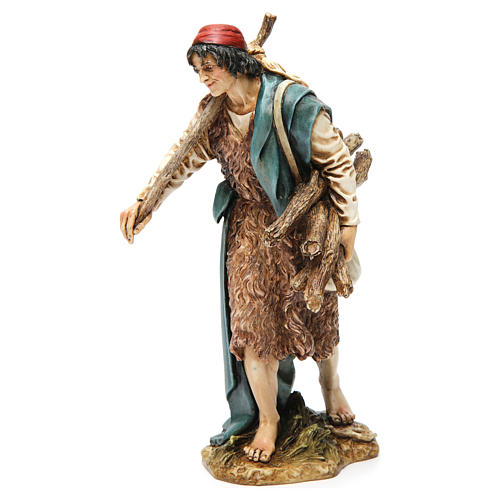 Viandante con saco y madera resina 20 cm Moranduzzo 3
