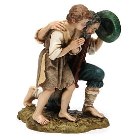 Bagpipe player with child Moranduzzo Nativity Scene 20 cm s4