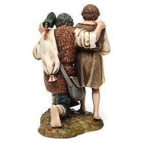 Bagpipe player with child Moranduzzo Nativity Scene 20 cm s5