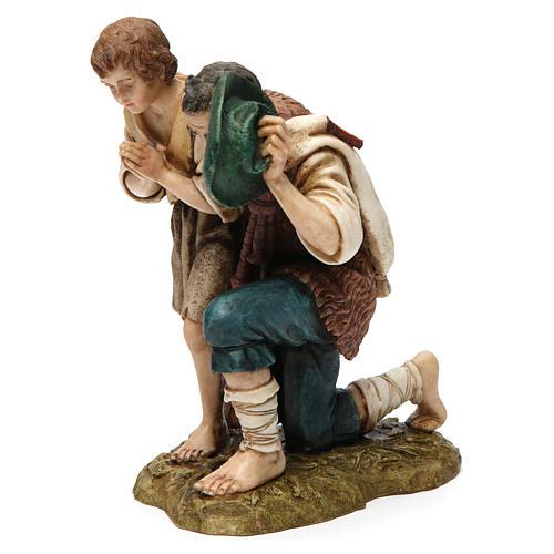 Bagpipe player with child Moranduzzo Nativity Scene 20 cm 3