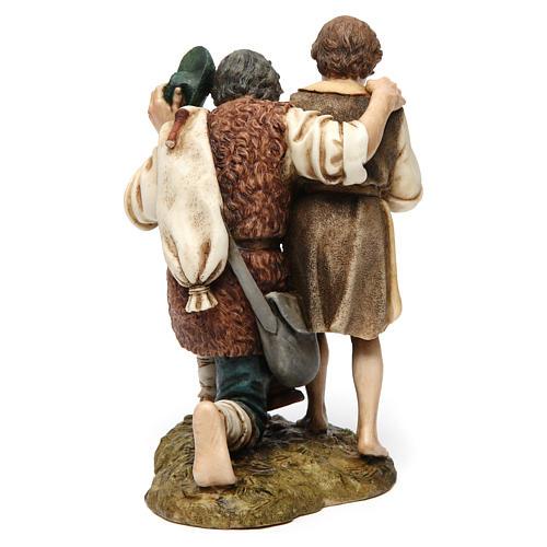 Bagpipe player with child Moranduzzo Nativity Scene 20 cm 5