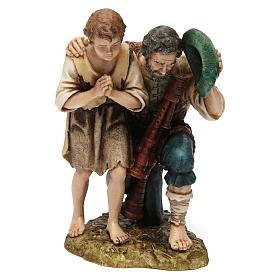 Piper with child for Moranduzzo Nativity Scene 20cm s1