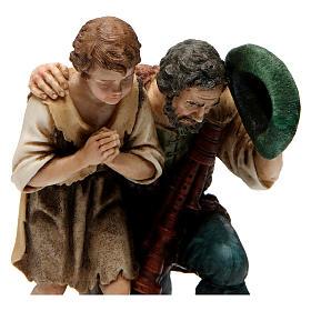 Piper with child for Moranduzzo Nativity Scene 20cm s2