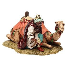 Nativity Scene by Moranduzzo: Wise Man with camel Moranduzzo Nativity Scene 13 cm