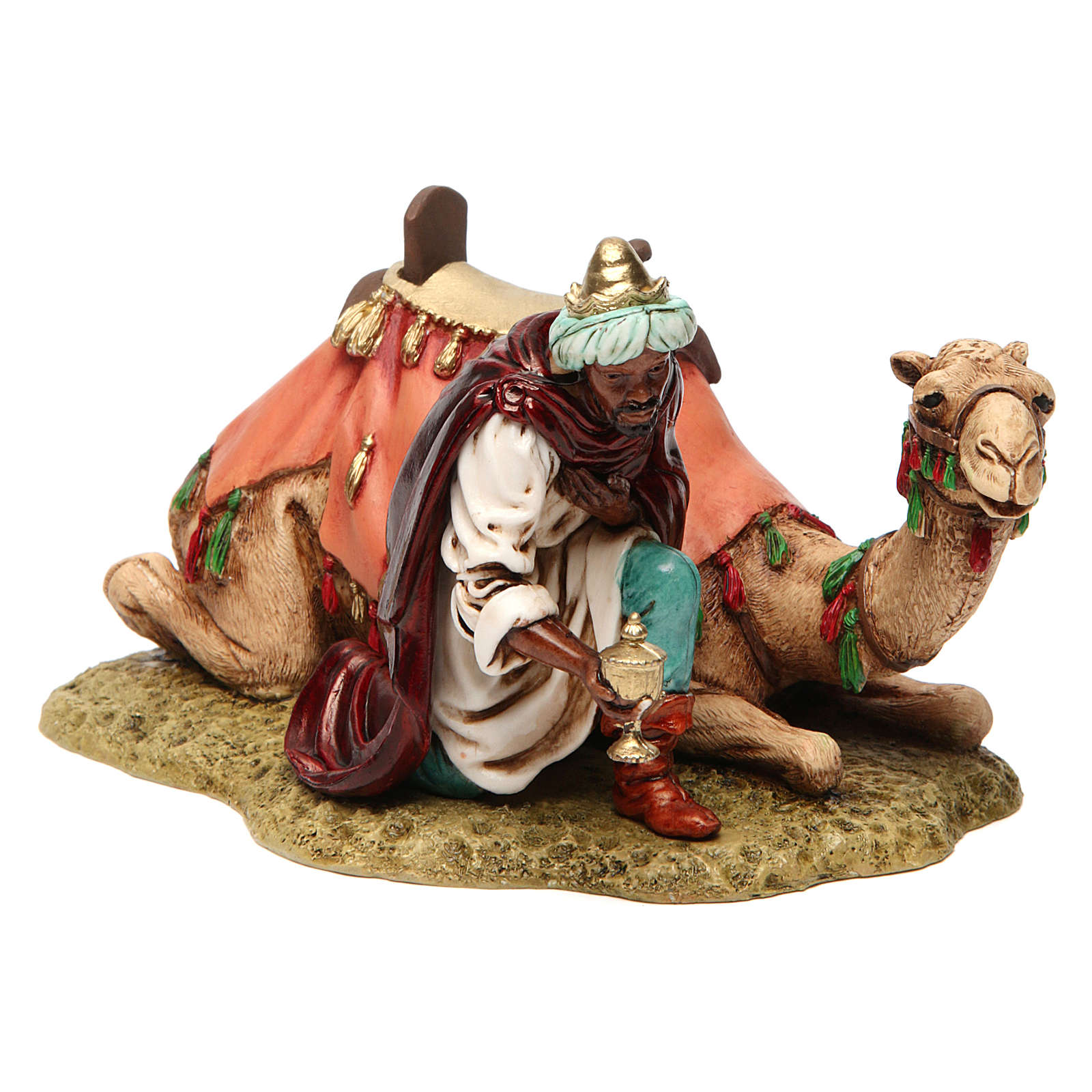 Rey mago con camello 13 cm Moranduzzo 4