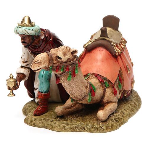Wise king with camel for Moranduzzo Nativity Scene 13cm 2