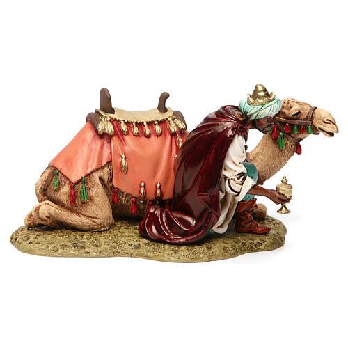 Wise king with camel for Moranduzzo Nativity Scene 13cm 3