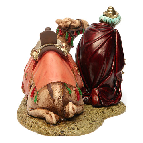 Wise king with camel for Moranduzzo Nativity Scene 13cm 4