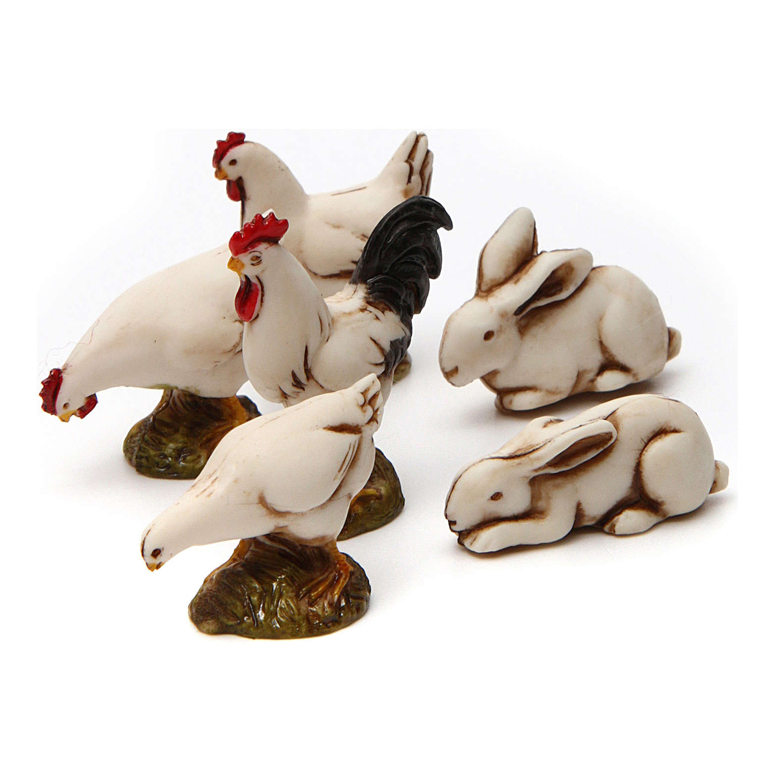Six white courtyard animals Moranduzzo Nativity Scene 10 cm 4