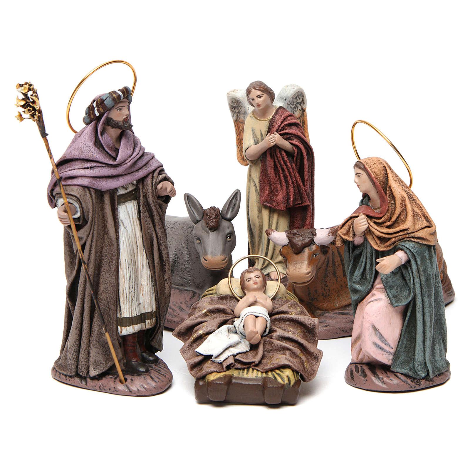 Natividad 6 piezas belén 14 cm de altura media terracota 3