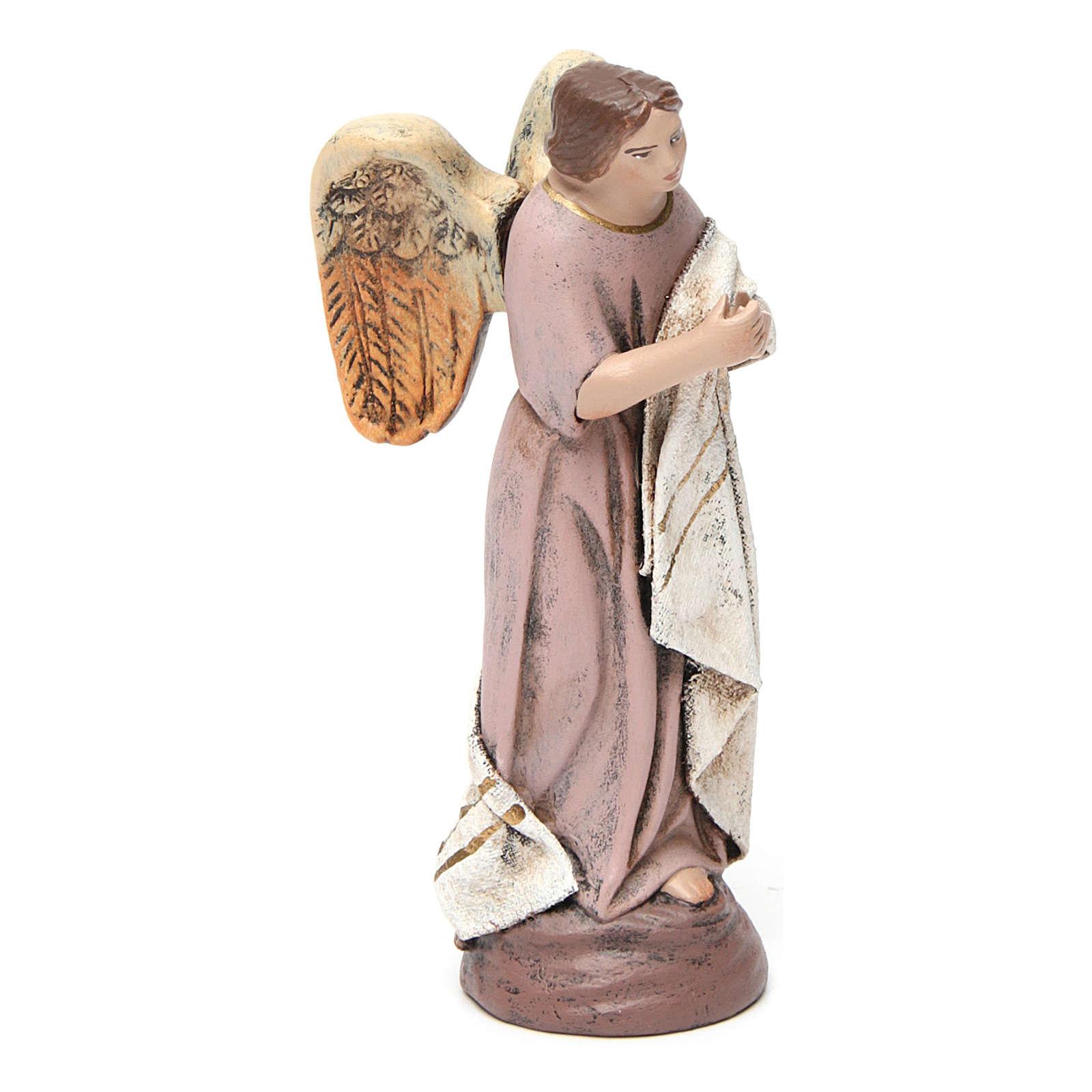 Scena natività 6 pezzi presepe 14 cm terracotta con stoffa sagomata 3