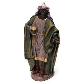 Scena Tre Re Magi in adorazione presepe 14 cm terracotta s2
