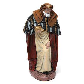 Scena Tre Re Magi in adorazione presepe 14 cm terracotta s3