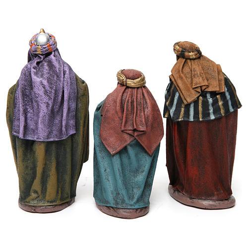 Scena Tre Re Magi in adorazione presepe 14 cm terracotta 5