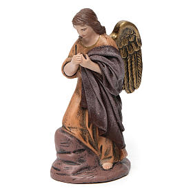 Scena Sacra Famiglia 6 pezzi con angelo presepe 14 cm terracotta s3