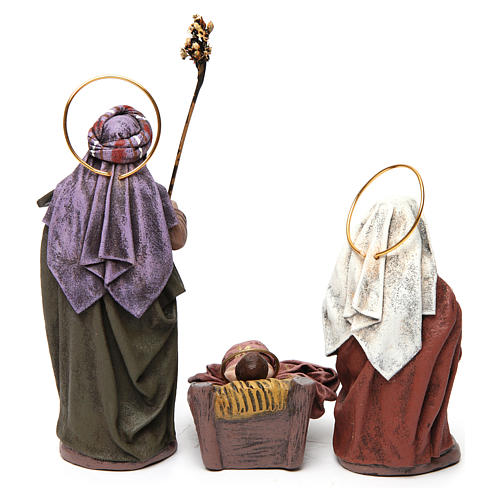Scena Sacra Famiglia 6 pezzi con angelo presepe 14 cm terracotta 7