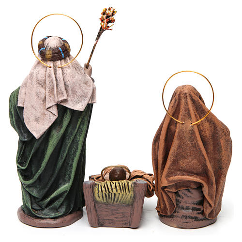 Birth of Jesus with Mary holding drape 6 pieces in terracotta for Nativity Scene 14 cm 7