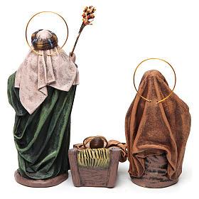 Scena Natività 6 pezzi Maria con drappo presepe 14 cm terracotta s7