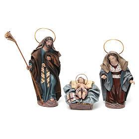 Nascita di Gesù con Maria inginocchiata 6 pz Natività presepe 14 cm terracotta s2