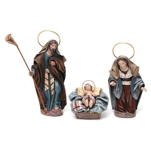 Nascita di Gesù con Maria inginocchiata 6 pz Natività presepe 14 cm terracotta 2