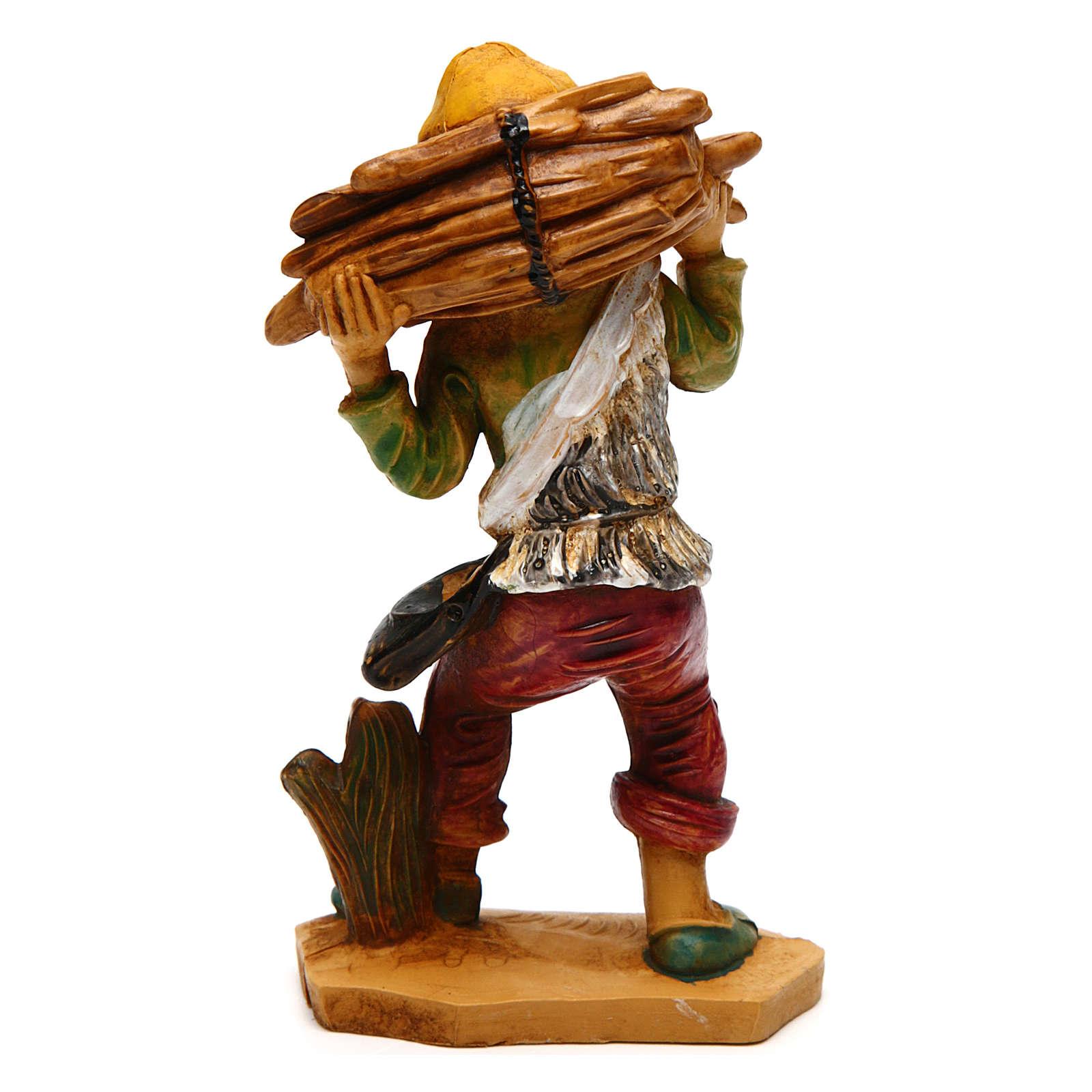 Uomo con legna di 12 cm presepe 3