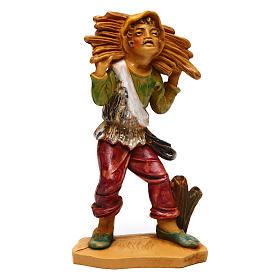 Uomo con legna di 12 cm presepe s1