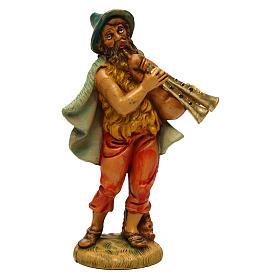 Statue per presepi: Uomo con zampogna per presepe 12 cm