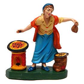 Figuras del Belén: Mujer con castañas 10 cm de altura media belén